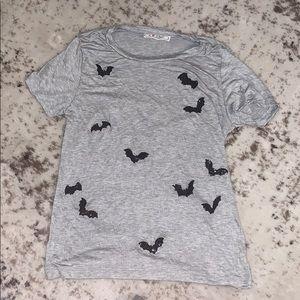 Halloween grey T